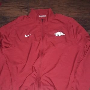 Mens sz XL Nike Razorbacks athletic jacket NEW